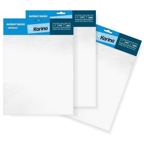 Papierové uteráky odtrhávacie 25x32cm/50 listov