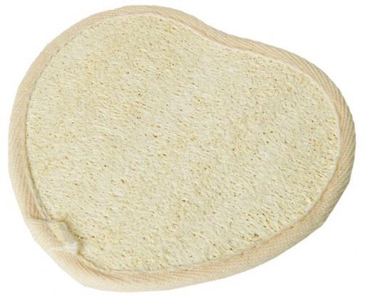 Umývacia špongia lufa - froté SRDCE