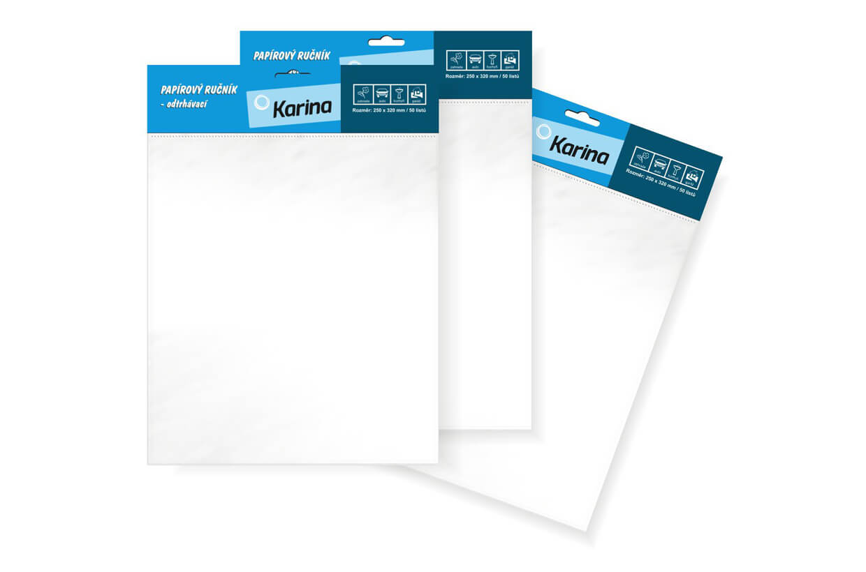 Papírtörlők - szakíthatók 25x32 cm/50 darabos