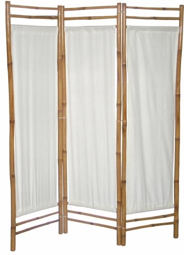 Bambusz paraván fehér vászon