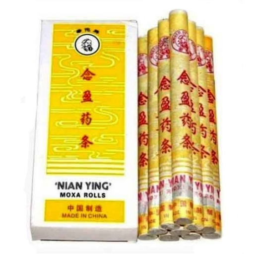 Nian Ying hosszú gyógynövényes moxa szivar, hűtő hatással 10 db