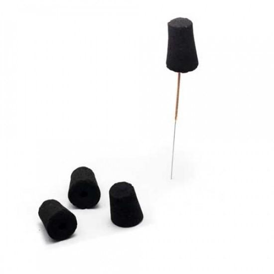 Uhlíkové nedymiace mini moxy v tvare kužeľa na ohrievanie ihiel 100 ks