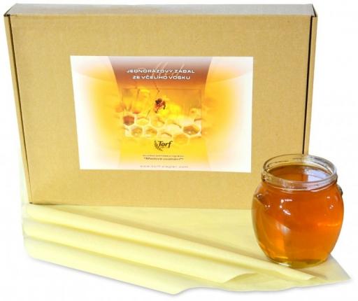 Jednorázový bio zábal z včelieho vosku 20ks