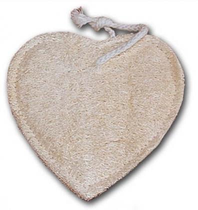 Szív alakú luffából készült szivacs