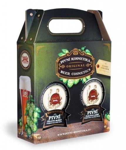 Ajándékkészlet V. – Sörös testápoló krém plusz sörös olajfürdő 2x500ml