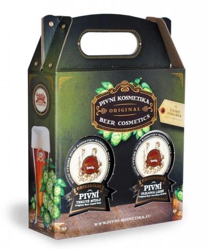 Ajándékkészlet III. – sörös folyékony szappan plusz sörös olajfürdő 2x500ml