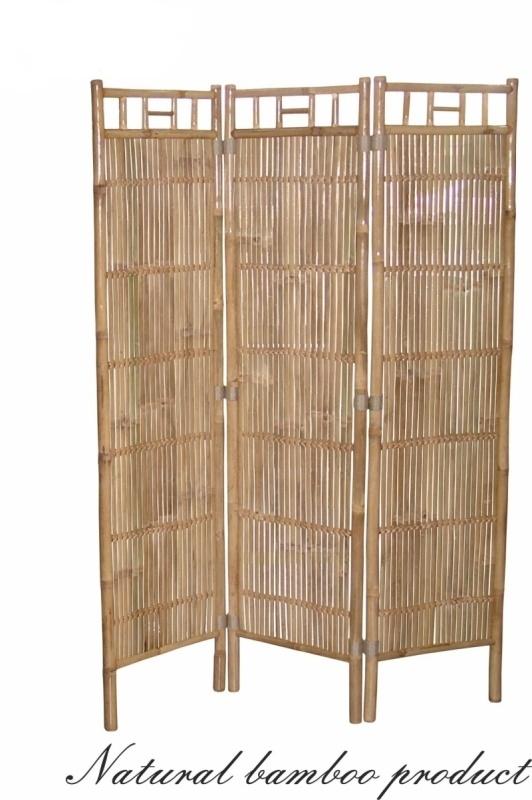 Bambusový paraván natural