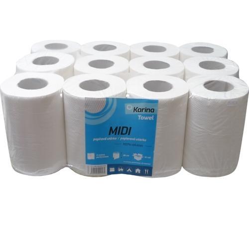 Papierový uterák PK MIDI role 2vrstvový, celulóza