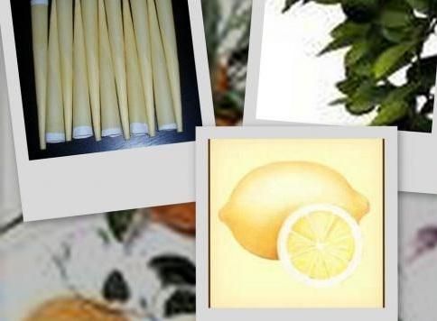 Telové sviečky citrónové 5ks